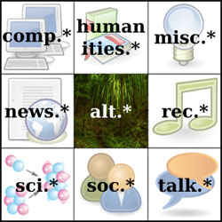 List of Top 25 Usenet Newsgroups Sorted by Amount of Uploaded Files